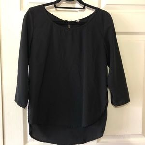 Japna high low long or 3/4 sleeve tunic top M